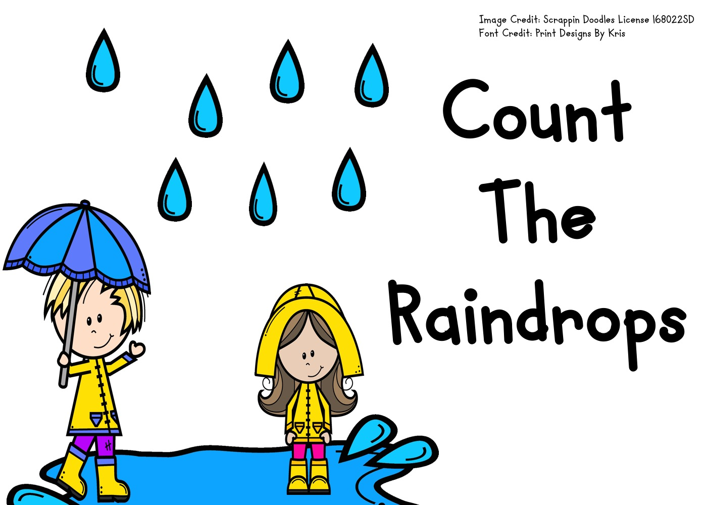Fun Spring Printables for Preschool and Kindergarten | Weather Themed Counting Games | Hands On Math Homeschool Activities | Kids Classroom Center Ideas and Worksheets #FreePrintableWorksheetsForKids #rain #weather #spring #counting