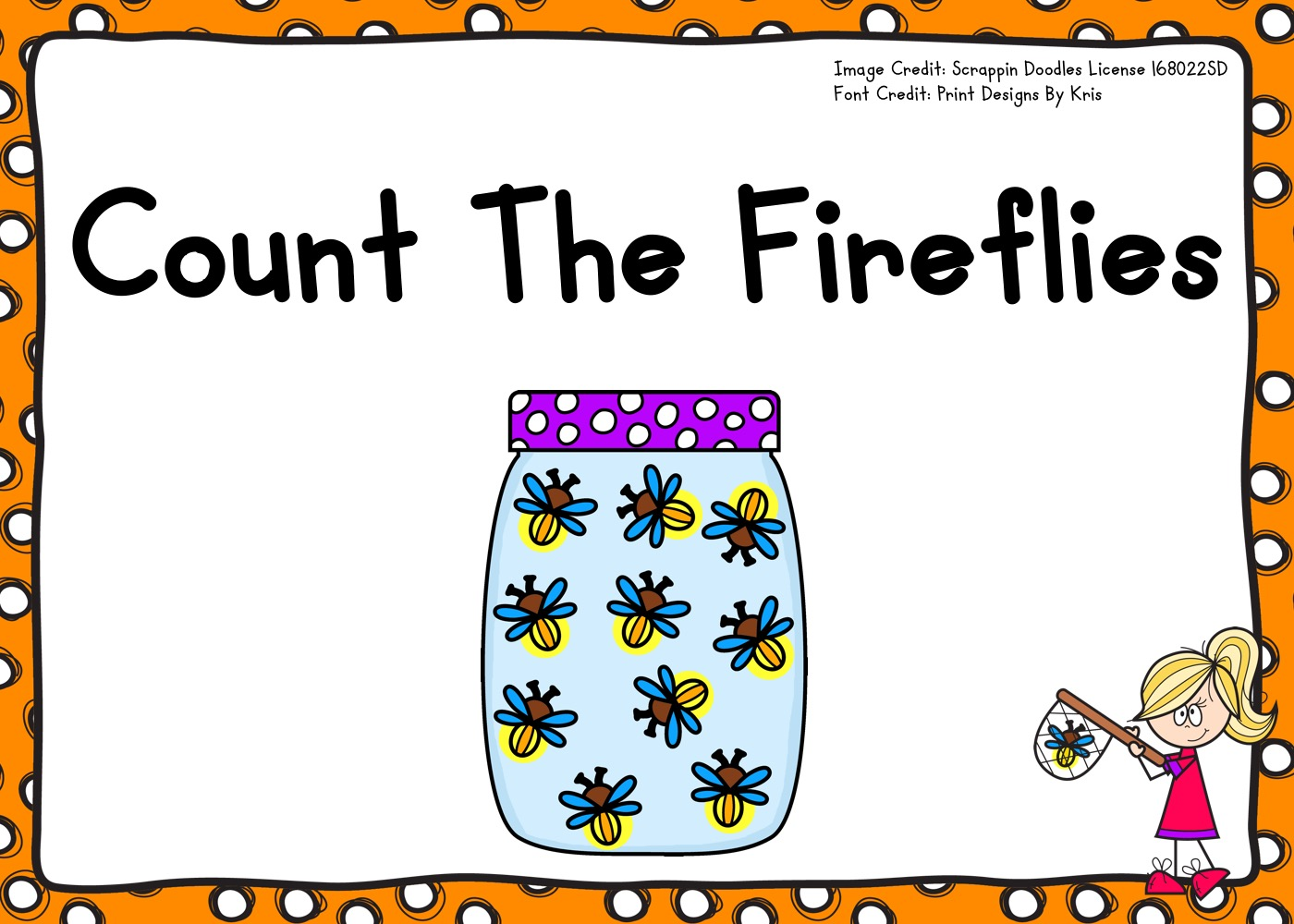 Count The Fireflies 1-10