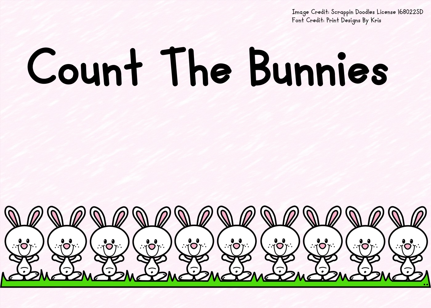 - Count The Bunnies 1-10 Free Printable Worksheets For Kids