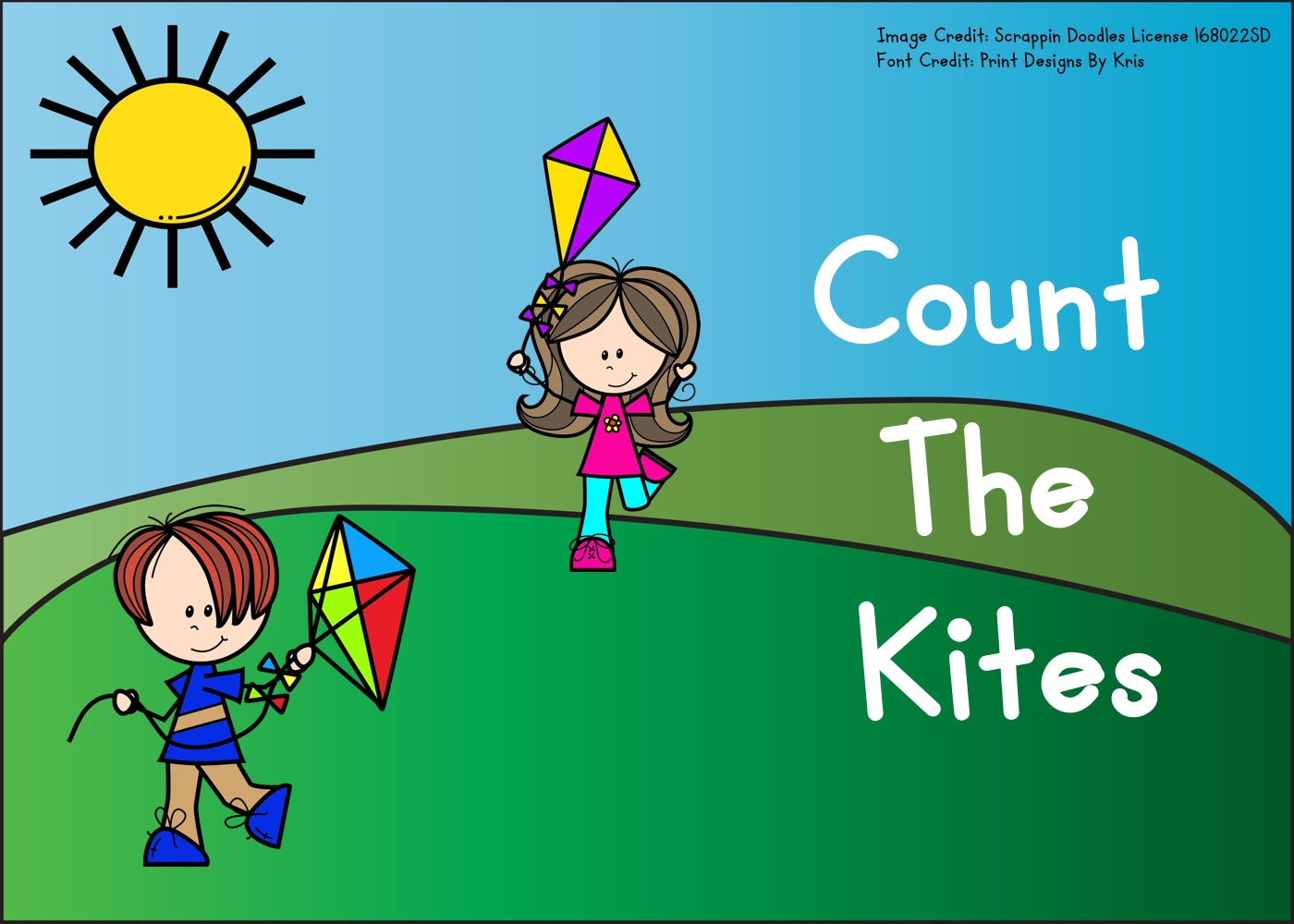 Count The Kites 1-10