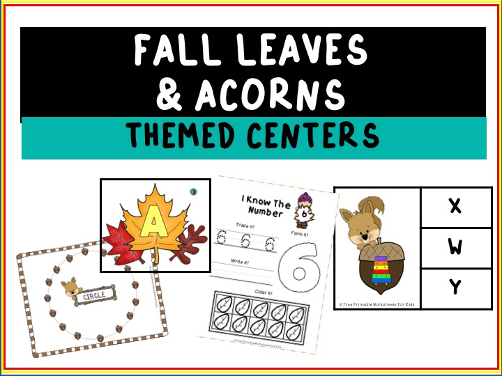Fall Printable Worksheets Pack | Free Printable Worksheets For Kids | Kids will have so much fun going through this 50-page worksheet pack for fall. It's full of cutting, counting, coloring and writing activities that will keep your students busy and excited for all things autumn!