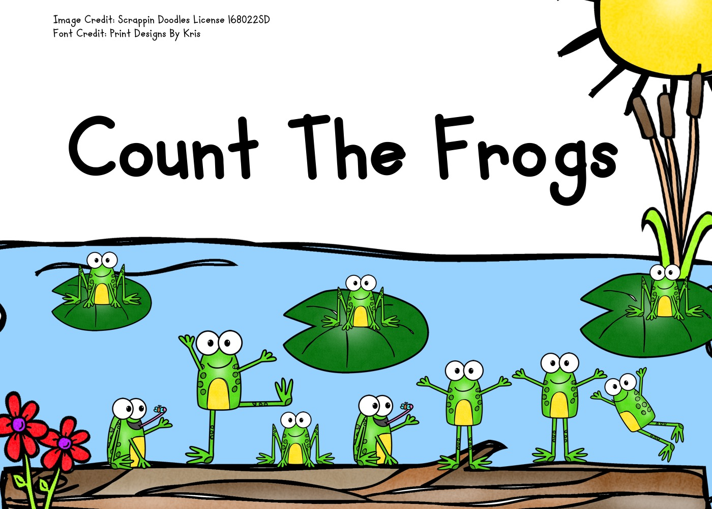 Count The Frogs 1-10