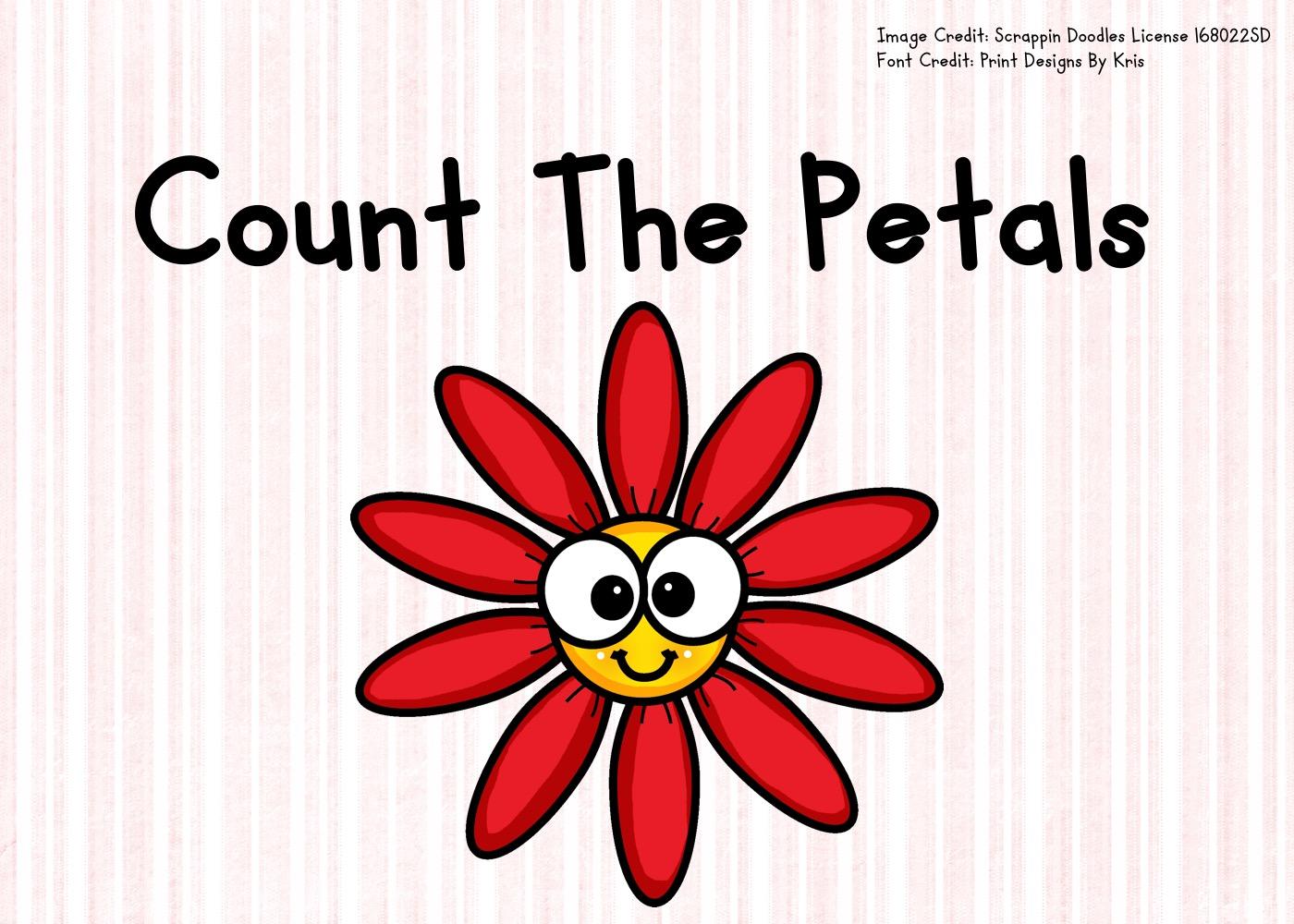 Fun Flower Printables for Preschool and Kindergarten | Spring Themed Counting Games | Hands On Math Homeschool Activities | Kids Classroom Center Ideas and Worksheets #FreePrintableWorksheetsForKids #flowers #plants #spring #counting #clipcards