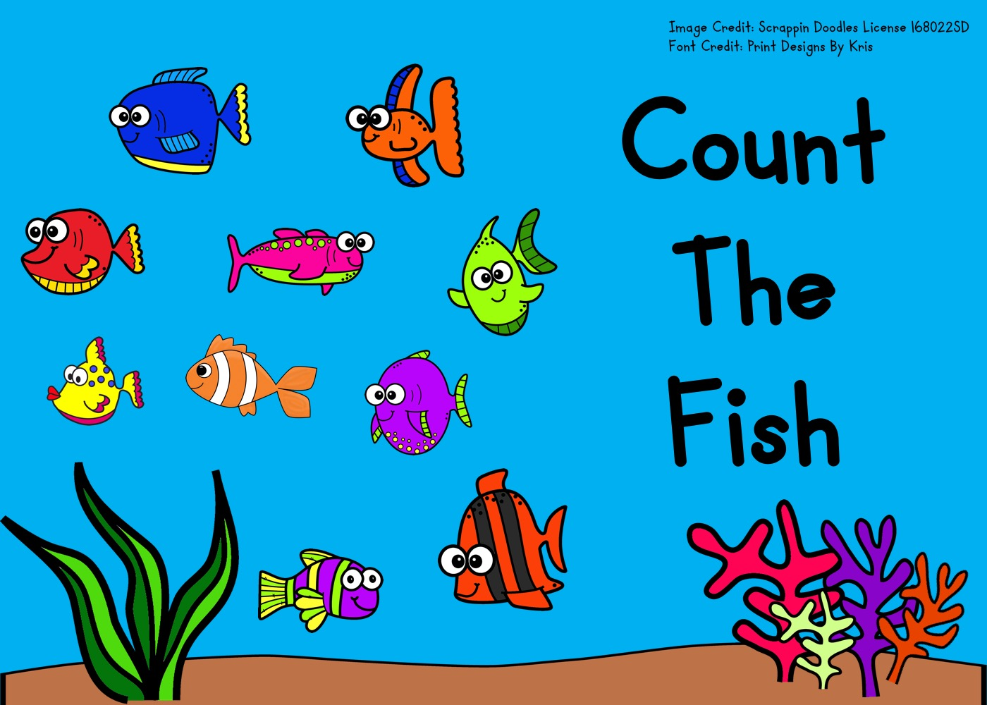 Fun Fish Printables for Preschool and Kindergarten   Ocean Themed Summer Games   Hands On Math Homeschool Activities   Kids Classroom Center Ideas and Worksheets #FreePrintableWorksheetsForKids #fish #ocean #summer #clipcards #counting