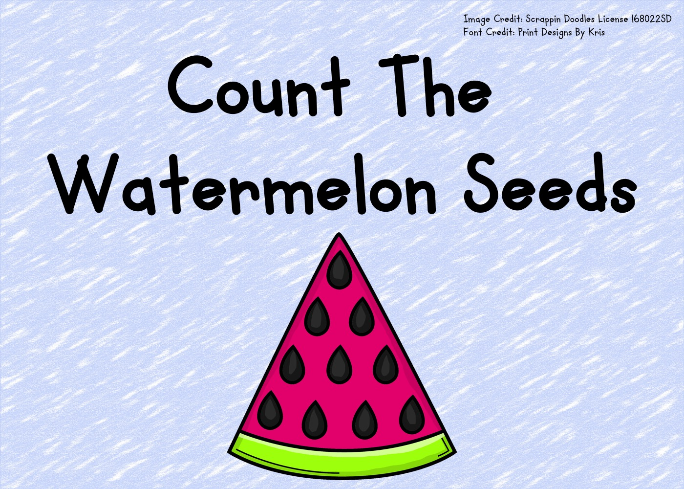 Count The Watermelon Seeds 1-10