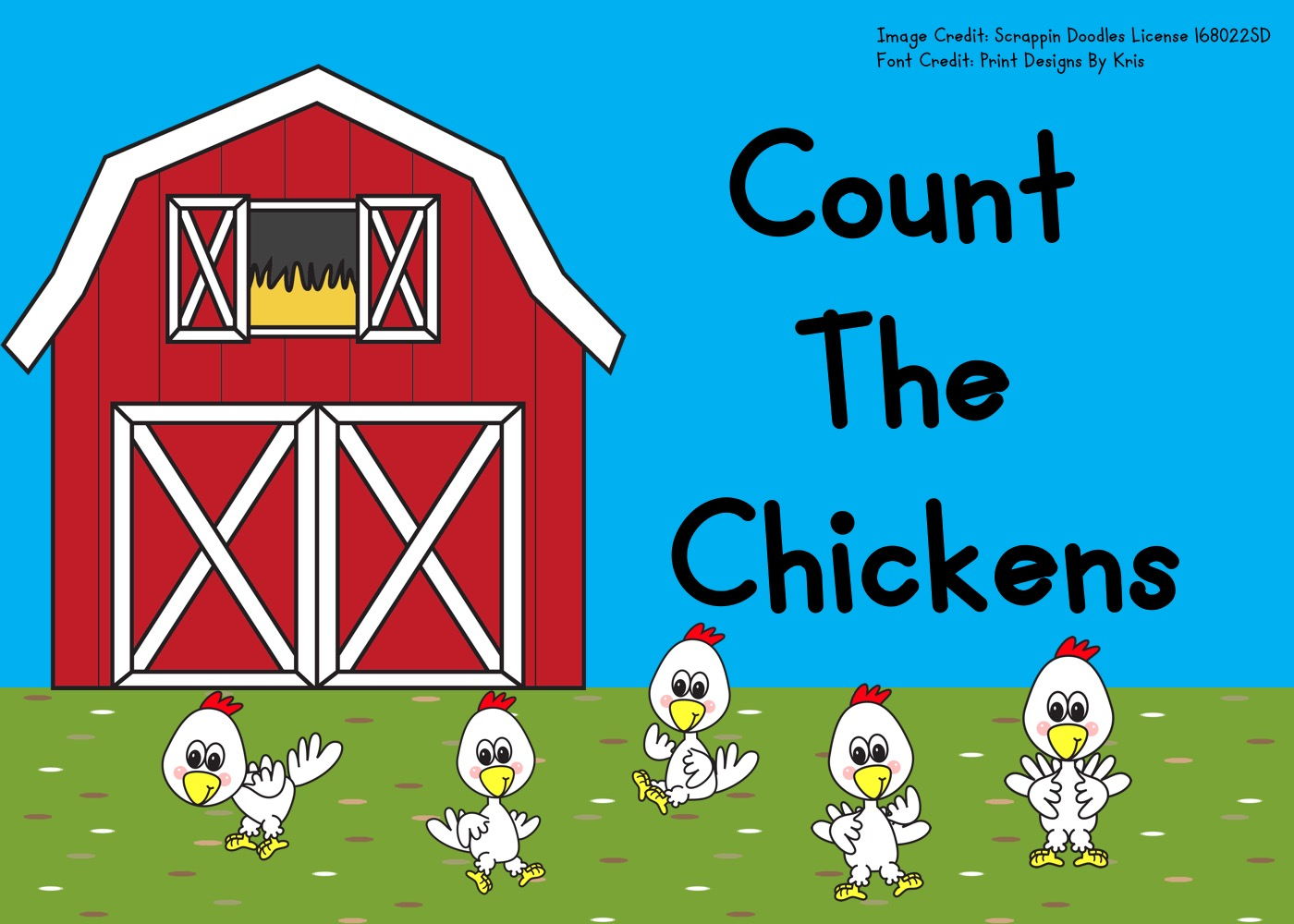 Fun Farm Printables for Preschool and Kindergarten | Chicken Themed Counting Games | Hands On Math Homeschool Activities | Kids Classroom Center Ideas and Worksheets #FreePrintableWorksheetsForKids #farm #chicken #counting #spring #clipcards