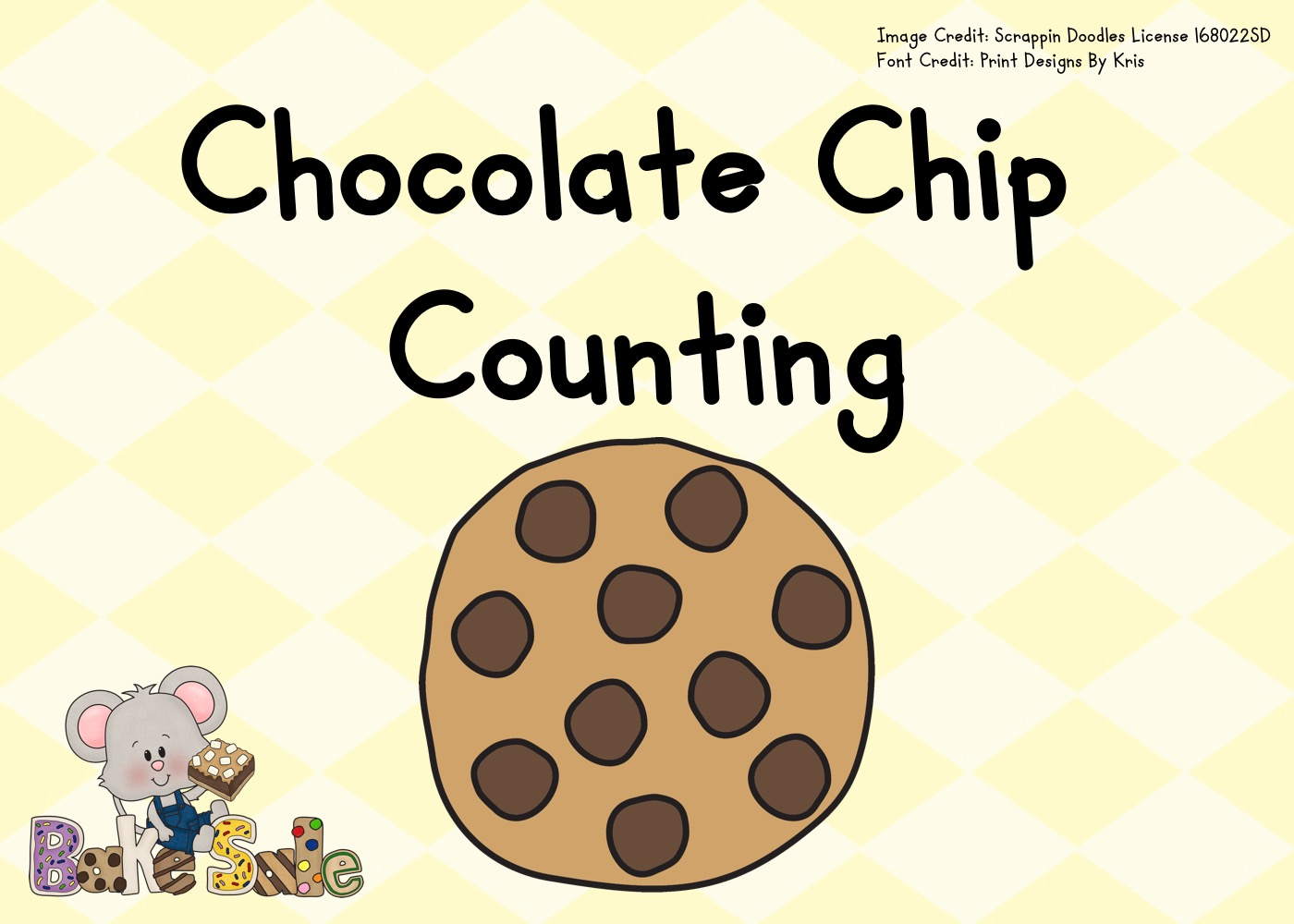 Fun Food Printables for Preschool and Kindergarten   Cookie Themed Counting Games   Hands On Math Homeschool Activities   Kids Classroom Center Ideas and Worksheets #FreePrintableWorksheetsForKids #chocolate #counting #cookie #food