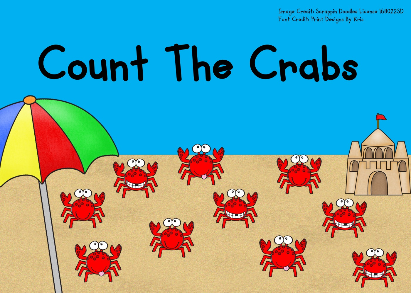 Fun Ocean Printables for Preschool and Kindergarten | Summer Themed Counting Games | Hands On Math Homeschool Activities | Kids Classroom Center Ideas and Worksheets #FreePrintableWorksheetsForKids #crab #ocean #summer #counting