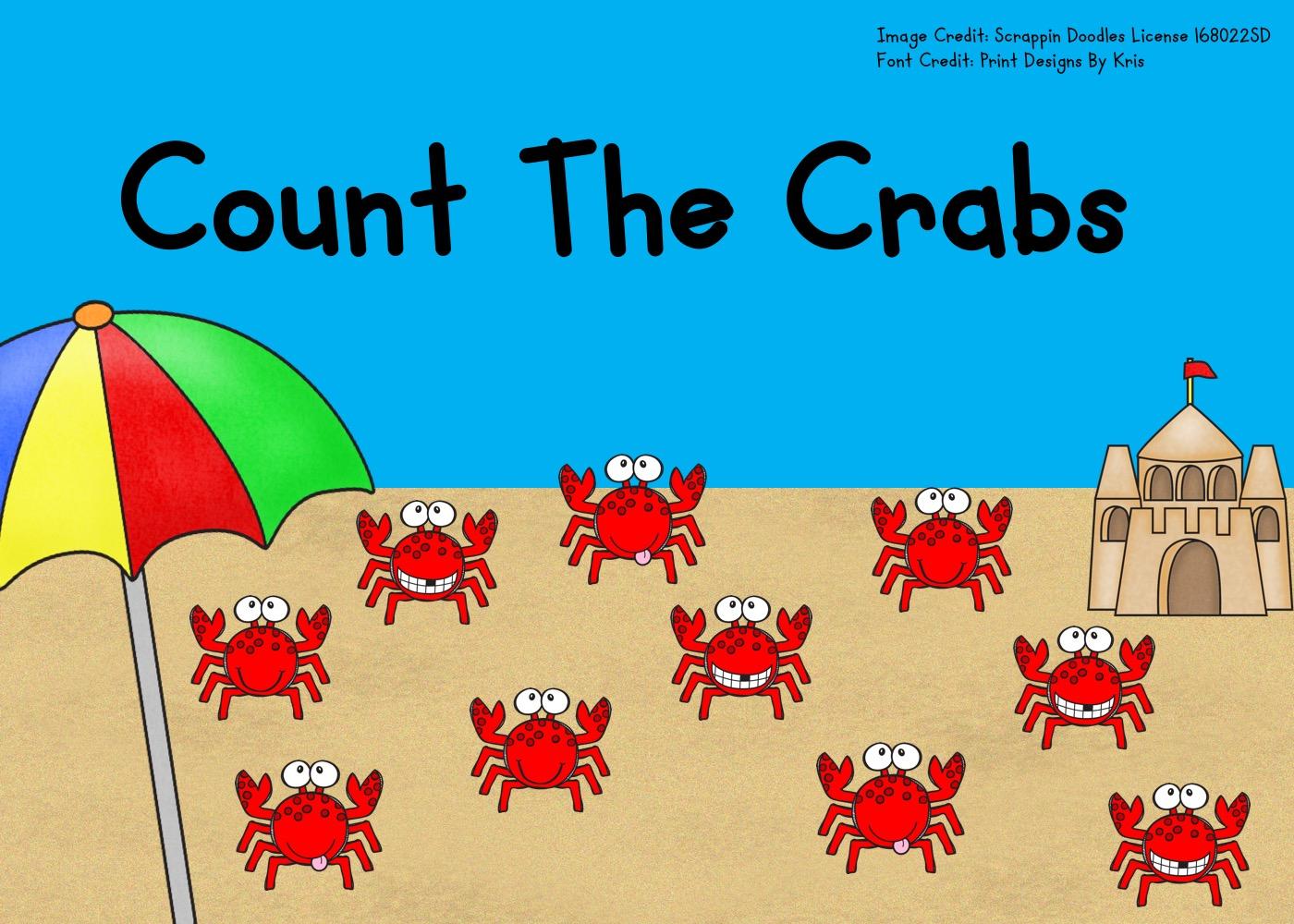 Fun Ocean Printables for Preschool and Kindergarten | Summer Themed Counting Games | Hands On Math Homeschool Activities | Kids Classroom Center Ideas and Worksheets #FreePrintableWorksheetsForKids #crab #ocean #summer #counting