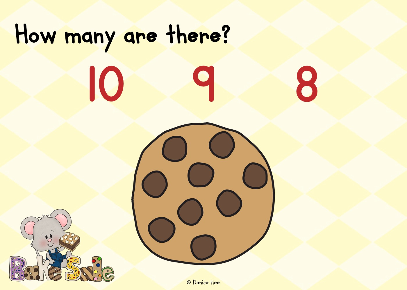 Count The Chocolate Chips 1-10 | Free Printable Worksheets For Kids | Kids will love this deliciously fun counting game! Count out the chocolate chips from 1-10 and clip a wooden peg on the correct answer. This printable game works on both math and fine motor skills.