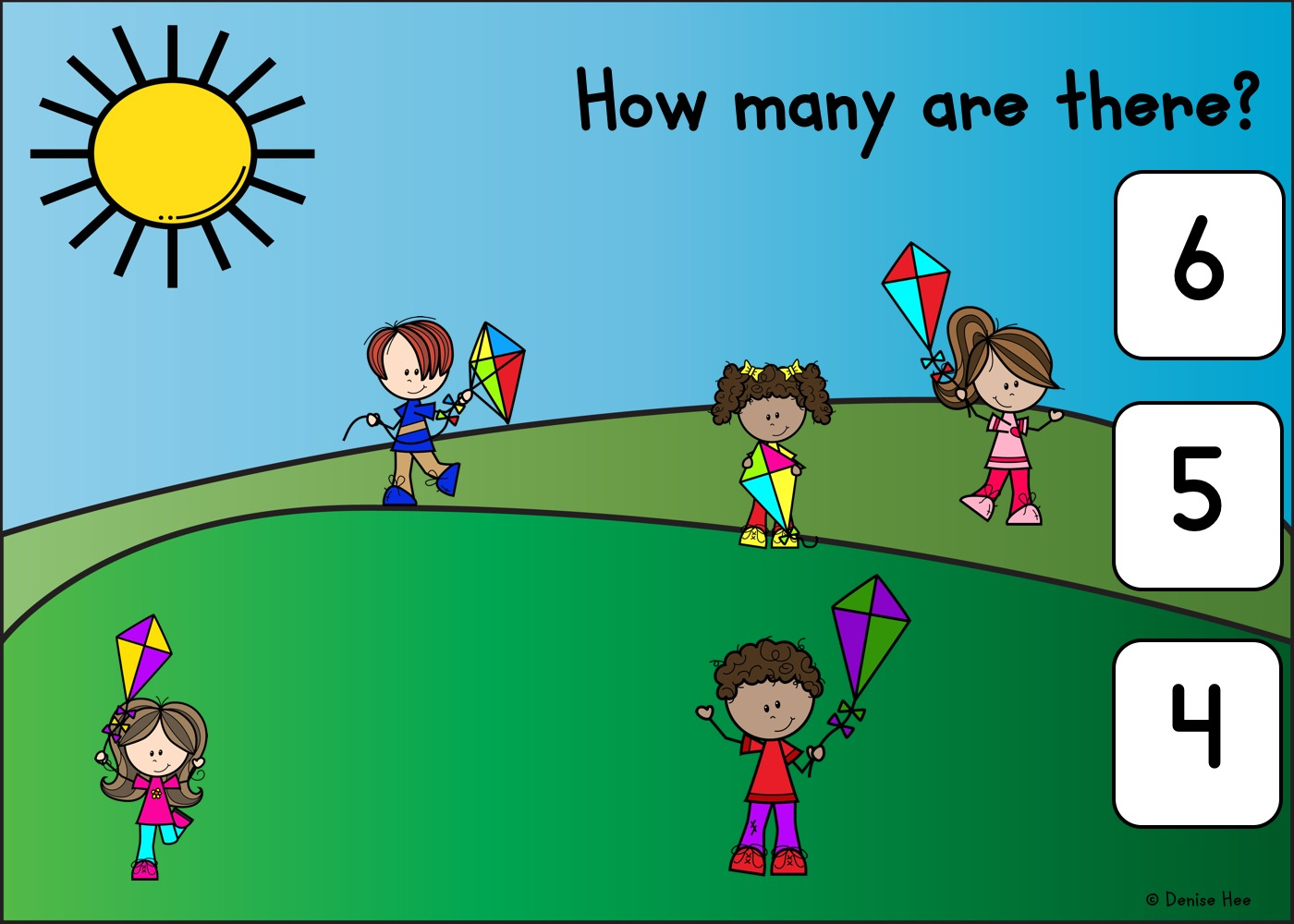 Count The Kites 1-10 | Free Printable Worksheets For Kids | Look up in the sky and count up to 10 colorful kites! Kids will love the whimsy of this game and look forward to their own time playing outdoors this Spring. Practice counting while strengthening their little hand muscles at the same time with this set of counting clip cards.