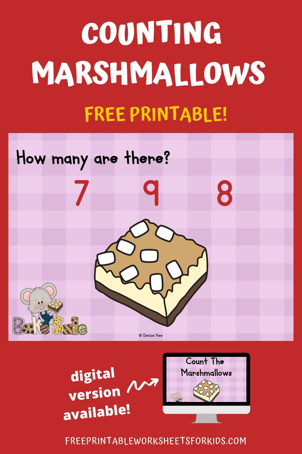 Count The Marshmallows 1-10 | Free Printable Worksheets For Kids | Kids love marshmallows - eating them, playing with them and now, they'll love counting them too! Get ready to work on early math and fine motor skills with this adorable set of counting clip cards.