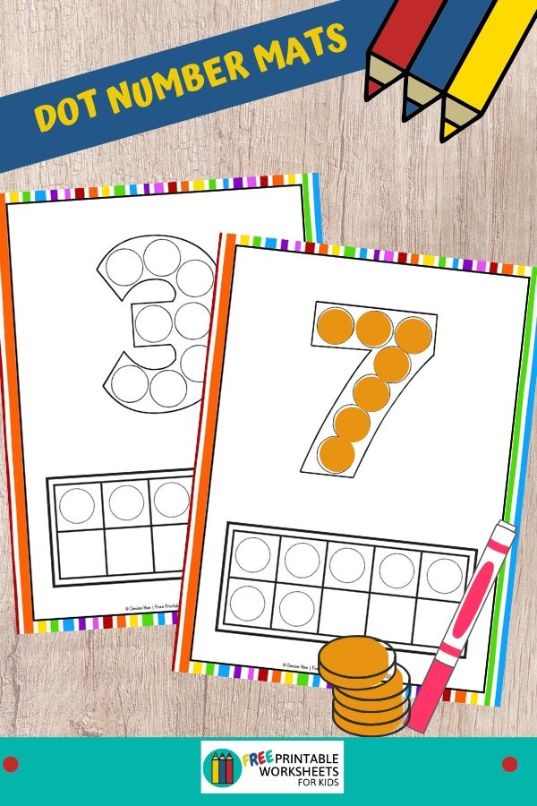 Fun Numbers Printables for Preschool and Kindergarten | Rainbow-Themed Counting Games | Hands On Math Homeschool Activities | Kids Classroom Center Ideas and Worksheets #FreePrintableWorksheetsForKids #number #rainbow #dot #count