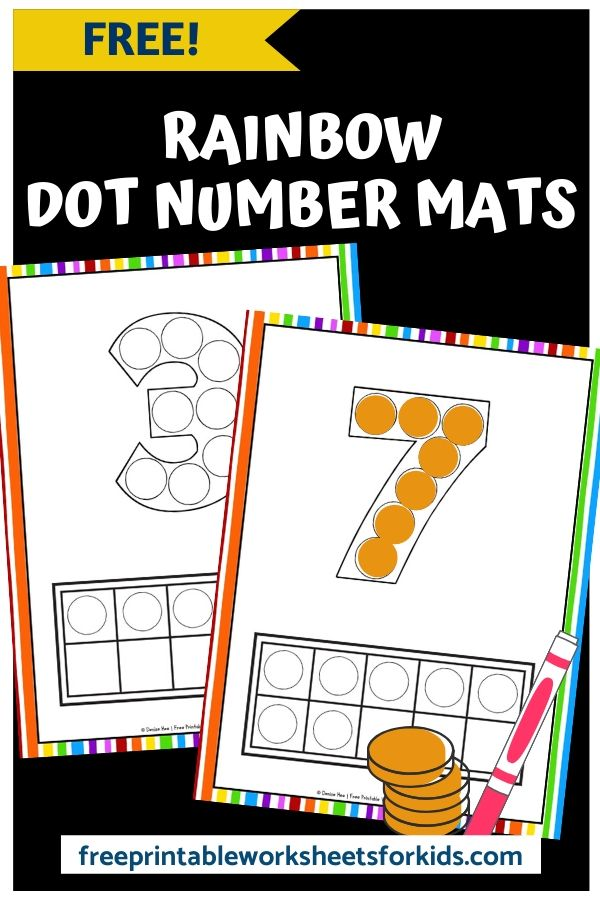 Rainbow Dot Number Mats