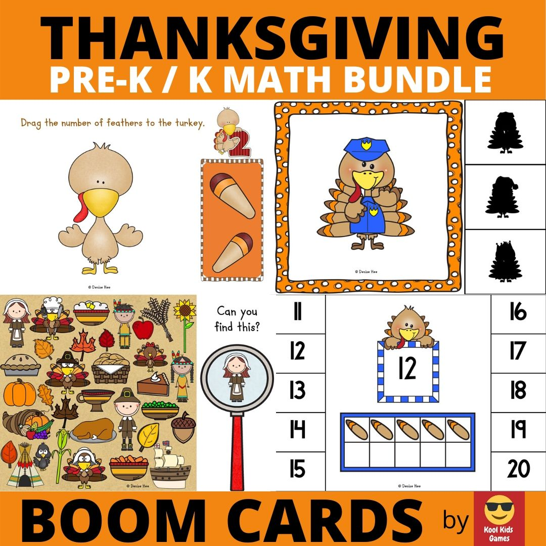 Thanksgiving Printable Worksheets Pack | Free Printable Worksheets For Kids | Your preschool and kindergarten students will be gobbling up this fun 50-page worksheet pack filled with literacy, math and fine motor practice activities. You'll be so thankful you found this freebie :)