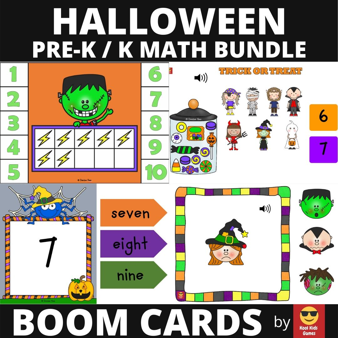 Halloween Printable Worksheets Pack | Free Printable Worksheets For Kids | Lots of Halloween treats await your students in this fun-filled activity packet. 50 pages of literacy, math and fine motor practice inside!