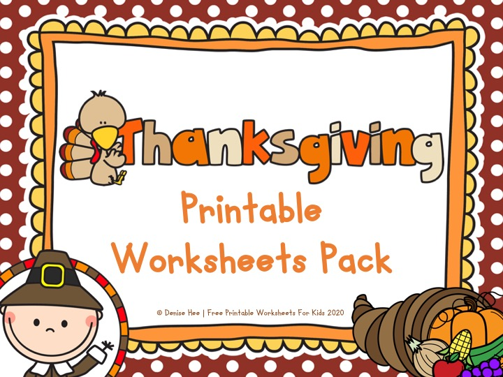Thanksgiving Printable Worksheets Pack