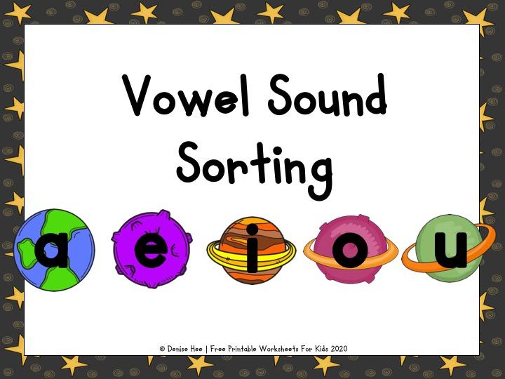 Space CVC Vowel Sorting
