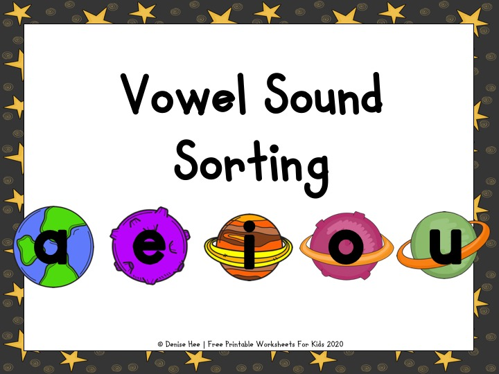 Space CVC Vowel Sorting