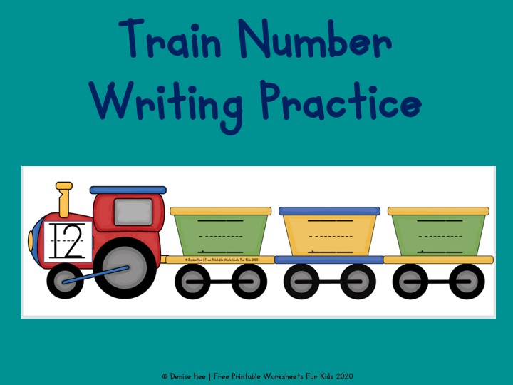 Train Number Writing Practice