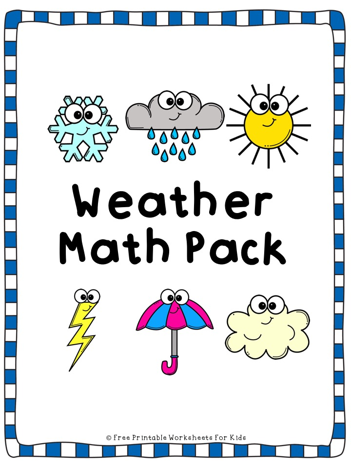Weather Math Worksheets Pack