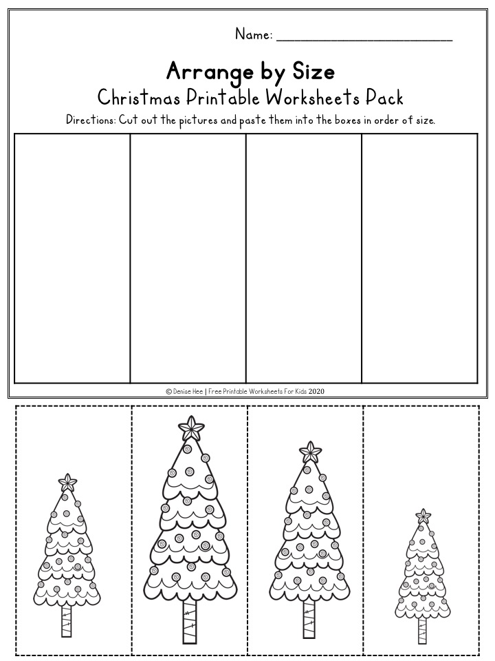Fun Christmas Printables for Preschool and Kindergarten | Santa Themed Number Games | Hands On Literacy Homeschool Activities | Kids Classroom Center Ideas and Worksheets #FreePrintableWorksheetsForKids #christmas #december #santa #elf #stocking