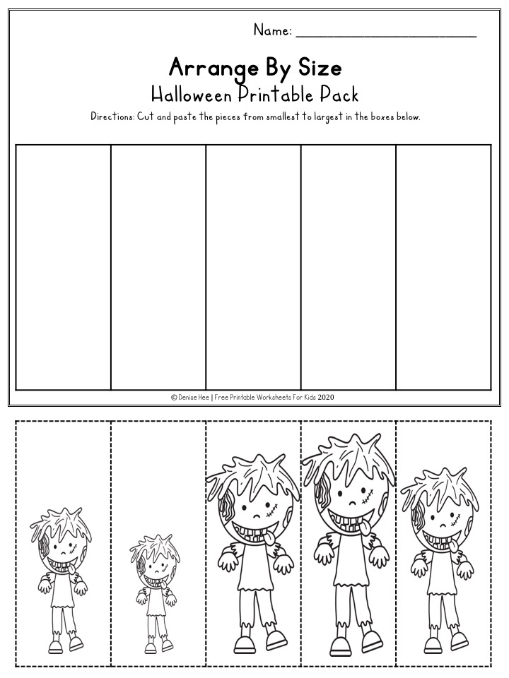 Fun Halloween Printables for Preschool and Kindergarten | Halloween Themed Number Games | Hands On Literacy Homeschool Activities | Kids Classroom Center Ideas and Worksheets #FreePrintableWorksheetsForKids #halloween #october #packet #witch #ghost