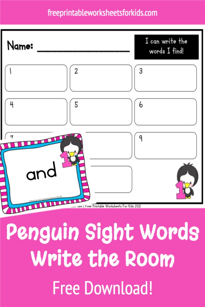 Kids will love this printable penguin theme pre-primer sight word write the room activity! It's perfect for a winter literacy center in kindergarten and even first grade.