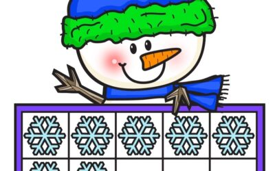 Snowman Ten Frame Mats