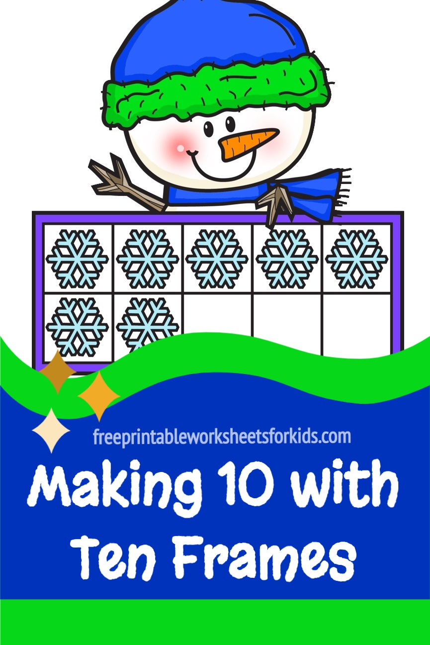 Students in preschool to 1st grade will practice counting, making 10, one to one correspondence, subitizing and writing numbers with these snowman ten frame mats. Use this printable as a fun winter math center in your classroom or as a hands-on addition activity for your homeschooling kids.