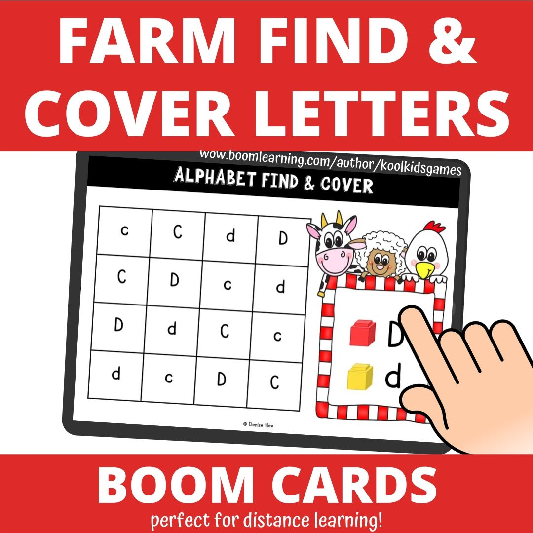 Farm Alphabet Find and Cover | Free Printable Worksheets For Kids | Work on letter recognition with your preschool students using this printable farm literacy center. You can use this fun farm alphabet game any time of the year in small groups or individually.