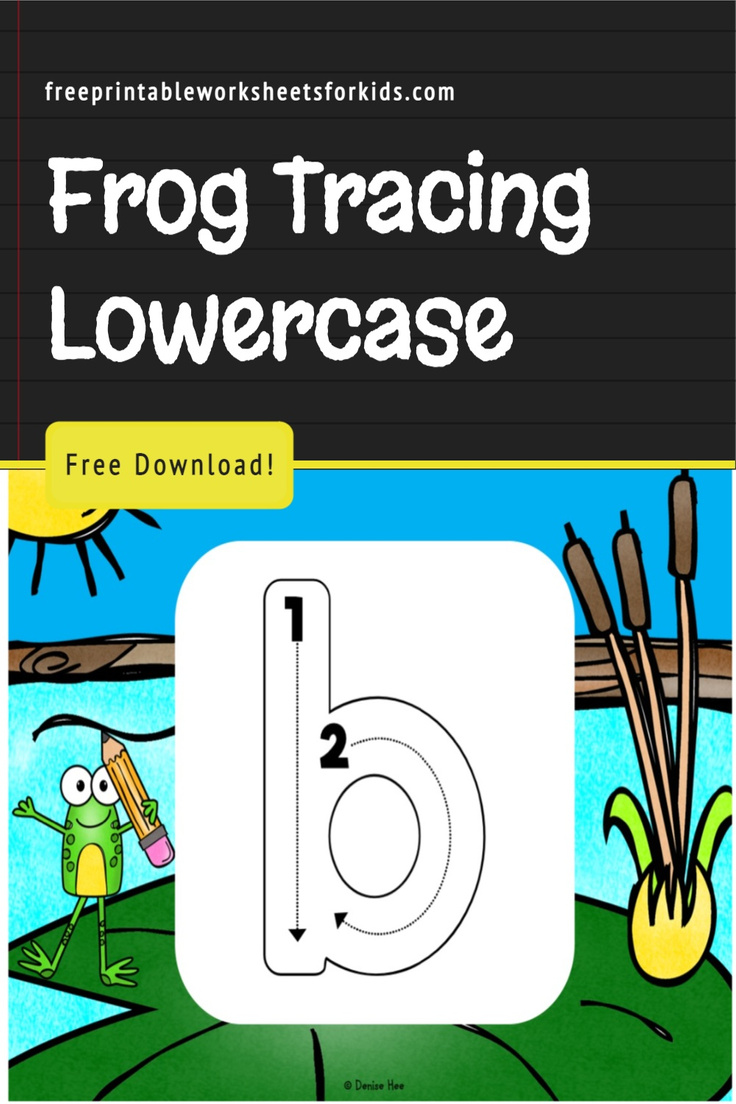 Whether you're prepping for a preschool frog theme week or looking for a kindergarten handwriting practice tool to include in your spring literacy centers, this free printable game will be perfect for it!