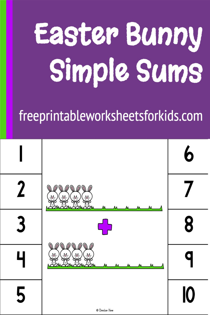 Looking for a kindergarten math center to practice addition and subtraction? Then this is the free printable for you! This Easter Bunny math activity helps students solve basic sums by having a visual representation they can use to count, instead of just numbers.