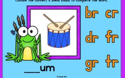 Frog Beginning R Blends