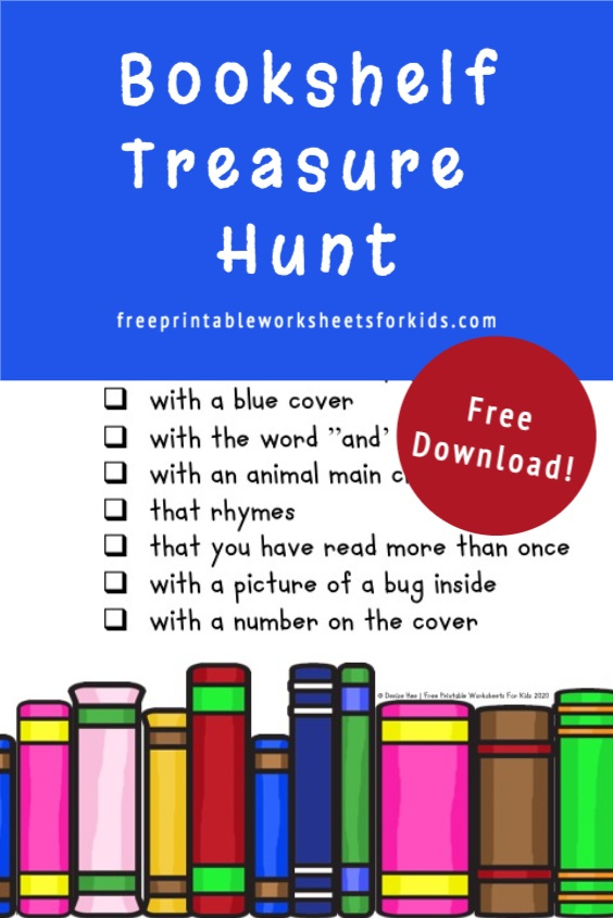 Preschool and kindergarten students will World Book Day activity. Use this printable treasure hunt as a fun literacy game in your classroom or as a hands-on activity to encourage reading for your homeschooling kids. Who will win this bookshelf scavenger hunt?