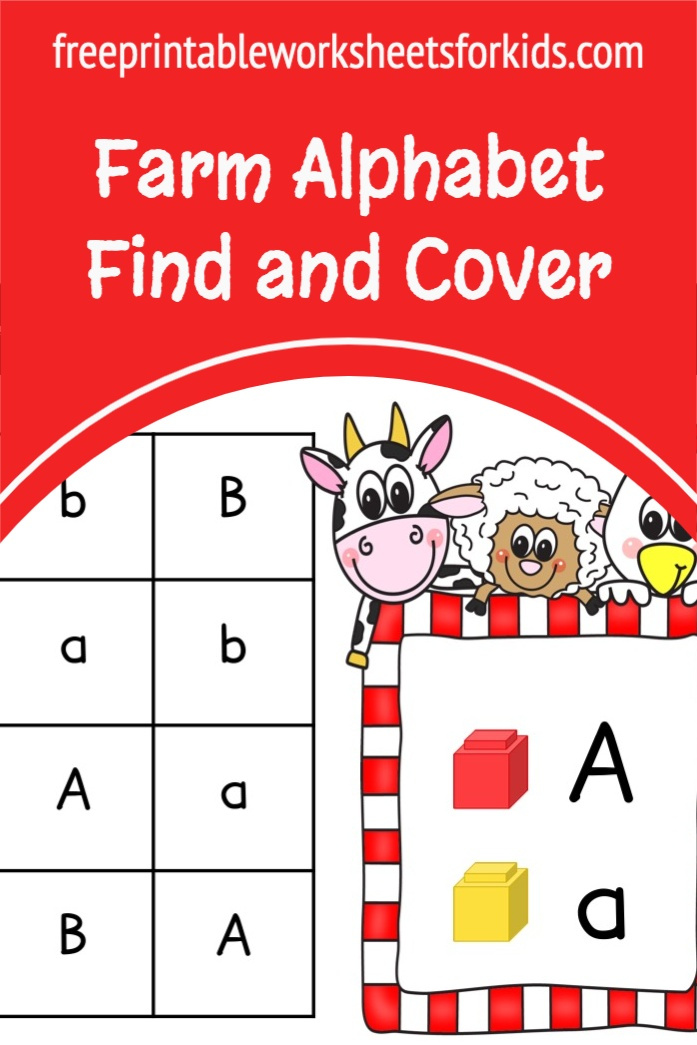 Work on letter recognition with your preschool students using this printable farm literacy center. You can use this fun game any time of the year in small groups or individually.