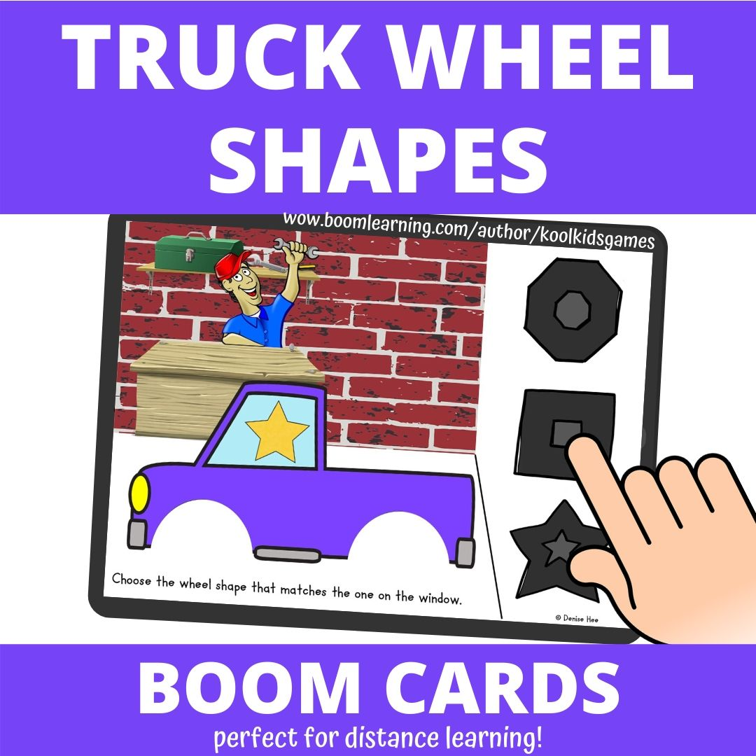 Truck Wheel Shape Matching | Free Printable Worksheets For Kids | Your students will love this fun transportation theme math center that you can use any time of the year! In this printable preschool shapes activity, they'll work on early geometry as well as fine motor skills.