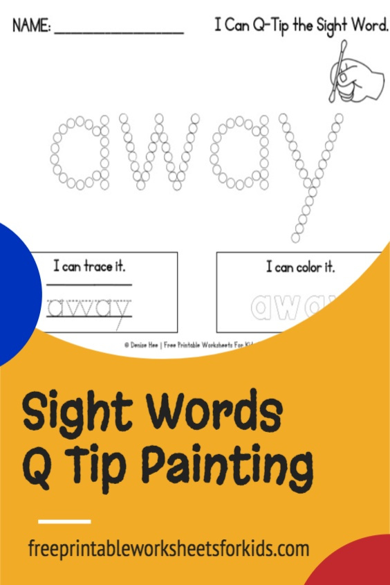 Your students will learn the 40 Dolch pre-primer sight words with this set of q tip painting printable worksheets. Use these as a fun kindergarten literacy center in your classroom any time of the year!