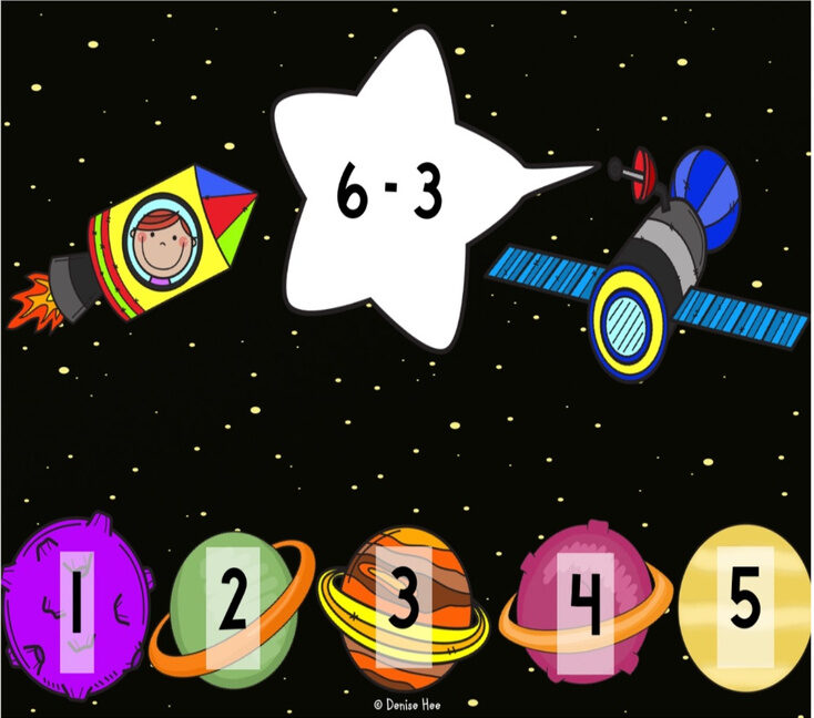 Space Subtraction Clip Cards