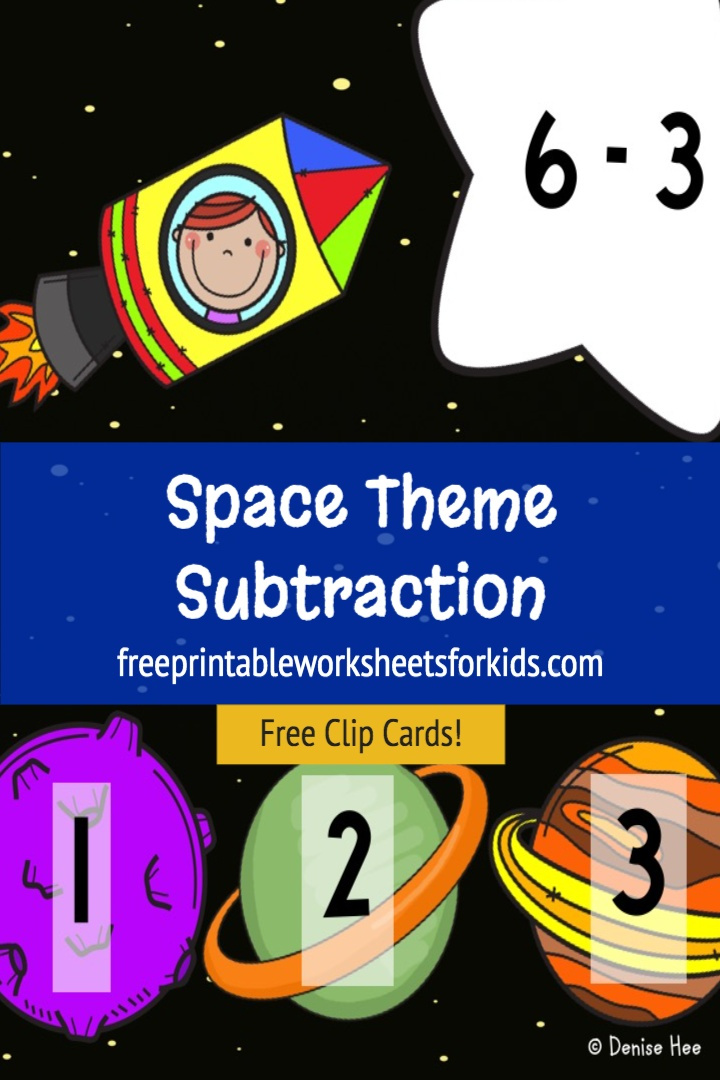 If you're looking for a kindergarten space theme activity that combines subtraction with fine motor skills, then you'll love this free printable