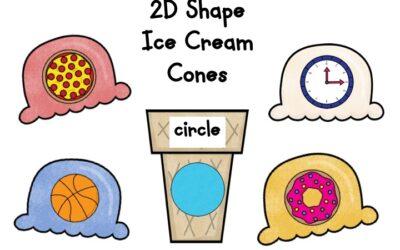 2D Shapes Ice Cream Cones