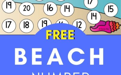 Beach Number Recognition to 20
