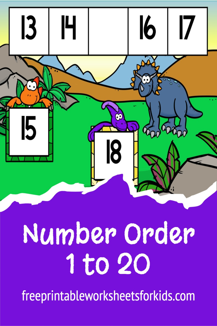 Kindergarten students will learn about number sequence in this printable dinosaur math center. They will need to figure out the missing number from a row of 5 numbers shown. You can use this as a fun math station any time of the year!
