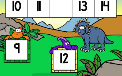 Dinosaur Number Sequence Cards