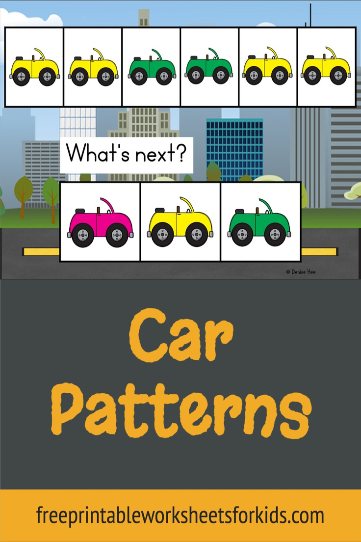 Kindergarten students will love these fun pattern activities with a unique transportation theme! Using a choice board of three different colored cars, students will master the skill of continuing an ABAB pattern in no time at all, and the cute vehicles will keep them coming back for more.