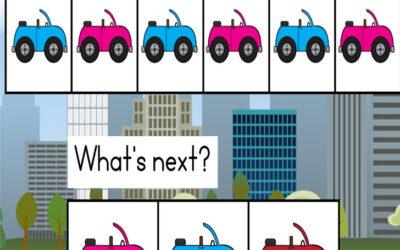 Colorful Car Patterns for Kindergarten