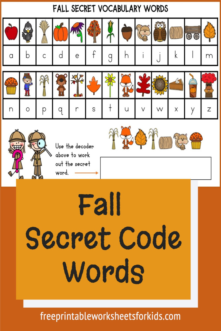 This secret code words activity is a great way to help students learn common kindergarten words to do with fall and to get excited about the season. Letter recognition and decoding words (or sounding them out) are both essential skills for a kindergartener to manage.