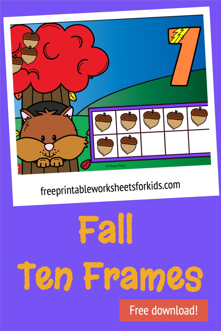 It's essential for kindergarten students to get their heads around counting and one-to-one correspondence when counting, and these squirrel ten frame mats will make mastering this skill fun and engaging! Grab these free printable number mats for an easy prep fall math center today.