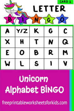 This unicorn theme alphabet bingo pack is a fun and engaging way to help preschool students master their letters before starting kindergarten. By having your students play letter recognition games like ABC bingo, you give them opportunities to learn important social interactions like turn taking while also reinforcing the shapes and sounds of each letter.