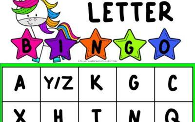 Unicorn Alphabet Bingo